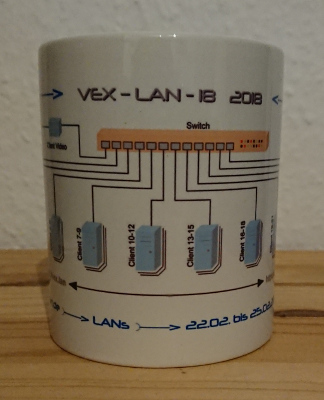 Die Tasse der VEX-LAN 18